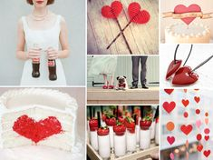 {red hearts} red wedding with lots of heart details