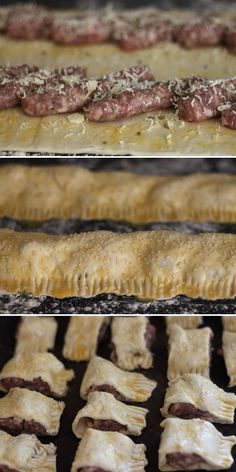 Sausage Roll Recipe :: Jamie Olivers Sausage Rolls :: party food Jamie's Recipes, Healthy Recipes, Healthy Meals, Jamie Oliver Sausage Rolls, Jamie Oliver Recipes Christmas, Jamie Oliver 30 Minute Meals, New Years Appetizers, Pork Roll, Roll Recipe