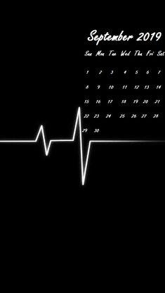 Heart line Wallpaper iPhone September 2019 Calendar #september #september2019 #iPhonecaledarwallpaper #2019