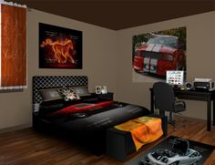 Mustang Wall Murals, the ultimate classic car style. Checkout our Mustang designs at http://www.visionbedding.com/WallMurals/Mustang.php