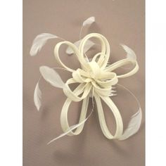 PRICE: Large cream coiled net and feather fascinator on a clear comb. Ideal for weddings, parties, races and other special occassions. Approx Size: x Wedding Hair Fascinator, Fascinator Hairstyles, Fascinator Hats, Pillbox Hat, Parisian Party, Alice Band, Ribbon Wrap, Cream Flowers, Prom Girl