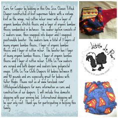 OS Cloth Fitted Diapers made from Little Le Pew Cloth Diapers up for auction to help baby Cooper's family