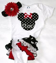 Minnie Mouse onsie! Love it.