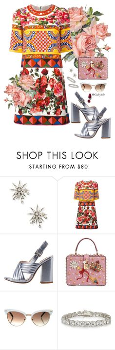 """""""🌹"""" by gabyidc ❤ liked on Polyvore featuring Lulu Frost, Dolce&Gabbana, MANGO, Gucci, Kenneth Jay Lane and NARS Cosmetics"""