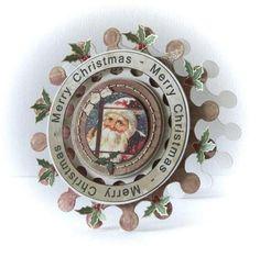 Peet card with Riddersholm Design paper, #Spellbinders circles