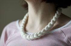 : : : o l g a j a z z y : : :: :: Cable Braided Necklace ::