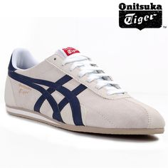 Onitsuka Tiger Runspark Suede Trainers - Birch/Navy £69.99  Based on the classic Runspark All Season track and field spikes of 1976, the Onitsuka Tiger Runspark SU Trainers are a smart looking casual shoe that borrows the narrow athletic silhouette of its famous predecessor. Designed for superior cushioning and an attractive low profile, these trainers features an egg-shaped support on the forefoot area and a padded midsole. As is typical of track and field footwear, the rubber outsole…