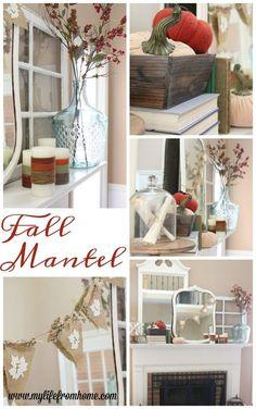 Fall Mantel Decor   Decorating your mantel for fall   books   autumn   mantel decor   book themed decorating   fall decor