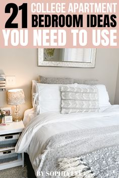 i really wanted my apartment bedroom to look cute but didn't have a big budget to do so. these college apartment bedroom tips are so good and really helped me make my room exactly what i wanted!