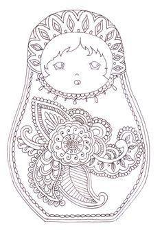 Matryoshka - coloriage