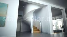 stair design TORNADO as closed spiral staircase