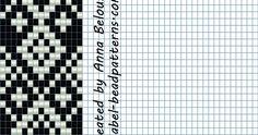 Схема гердана (гайтана) в технике  - станочное ткачество. Бесплатные схемы для бисероплетения от Anabel.