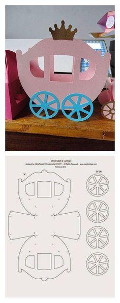 Idee Cadeau Fete Des Peres 2019 - Kartondan at arabası yapmak için paylaştığım bu güzel çalışmayı sizde. Kids Crafts, Diy And Crafts, Arts And Crafts, Paper Crafts, Diy Paper, Origami, Diy Y Manualidades, Cinderella Birthday, Cinderella Crafts