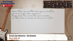 Across The Univers - The Beatles Guitar Backing Track with chords and ly...