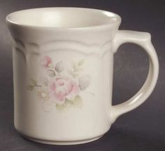 "Vintage Pfaltzgraff ""Tea Rose"" Mug - Set of 2 #Pfaltzgraff #FrenchCountry"