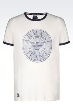 Armani Jeans Men Print t Shirt - T SHIRT IN COTTON JERSEY Armani Jeans Official Online Store
