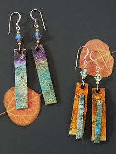 recycled paper earrings by Melissa Lanitis Gregory