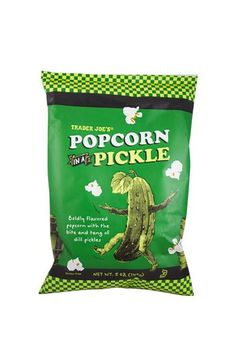 Popcorn In A PickleYes, it sounds really weird, but if you're a fan of pickles and popcorn separately, you have to try this seemingly odd snack. #refinery29 http://www.refinery29.com/best-trader-joes-food-products#slide-45