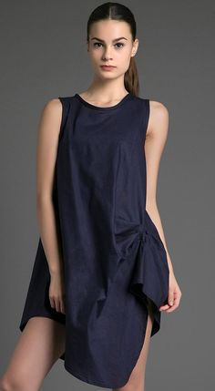 Abilene Dress by Kizzie. Black dress with unique cutting, this dress made of good material, unique dress that look so eye catching, perfect for casual style, you can pair this unique dress with flats shoes or a sneaker. http://www.zocko.com/z/JHg8v