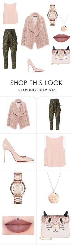 """""""Tickle me pink"""" by albywityou on Polyvore featuring Zara, Faith Connexion, Christian Louboutin, Marc by Marc Jacobs, Kate Spade and Betsey Johnson"""