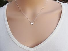 100% Sterling silver Initial necklace Personalized by AlinMay