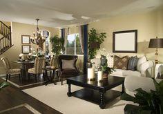 New home living room wood flooring