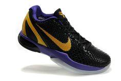 afb0376468c0 Nike Zoom Kobe VI Black Del Sol Purple 436311 07104 Nike Zoom