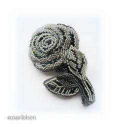 "Брошь ""Роза-Махаон"" | biser.info - всё о бисере и бисерном творчестве"