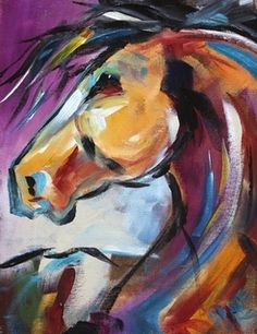 Pony Up 1 by A Texas Artist Laurie Pace, Horse Paintings and Equine Art for Sale, painting by artist Laurie Justus Pace