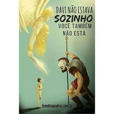 Você nunca está só! #jesus #davi #solidao #gigante #amor #amordedeus #jesuscristo #deus #god #biblia #bibliajfa #bibliajfaoffline Fonte: leandroquadros.com.br