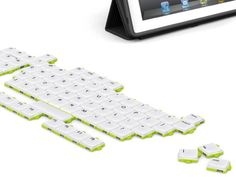 Puzzle Keyboard: Rearrange Your Keyboard However Way You Want To -- I would be SO confused!