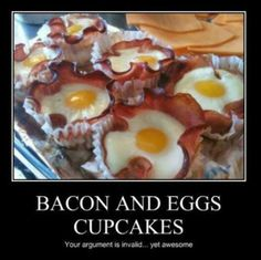 Bacon And Egg Savory Cupcakes Recipe — Dishmaps