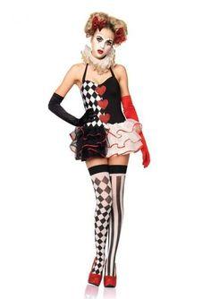 2 pc Sweetheart Harlequin Medium Large Women Halloween Costume Cosplay #LegAvenue #CompleteCostume