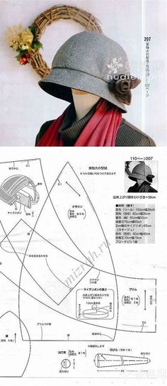 962349fd026 Résultat d images pour Free Cloche Hat Sewing Pattern Hat Pattern Sewing