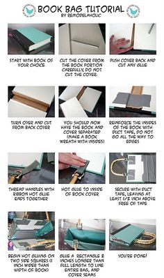 How to make a book purse
