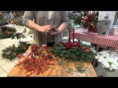 Jak zrobić stroik na stół wigilijny - YouTube