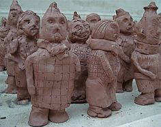 Terra Cotta Warriors made by Children at the British Museum