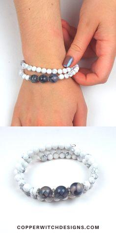 DIY Wrap Bracelet Kit Beaded Memory Wire Bracelet. The best Etsy Jewelry bracelet kit Memory Wire Bracelets, Unique Bracelets, Gemstone Bracelets, Handmade Bracelets, Handcrafted Jewelry, Jewelry Bracelets, Jewelry Kits, Etsy Jewelry, Wire Jewelry