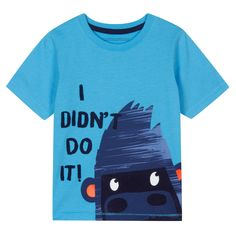 Boy's blue gorilla print t-shirt - Kids - Debenhams.com