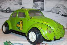 Volkswagen+Beetle+Vintage+VW+Bug+Tonka+Lime+Green+by+sherryanney,+$16.00
