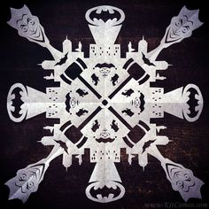 Pin for Later: The Most Crazy-Cool Snowflakes You've Ever Seen Batman Source: Facebook user KitCameo