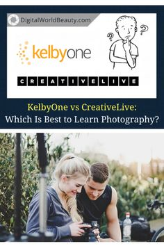 This post compares KelbyOne and CreativeLive photography classes if you want to learn the craft online. What's a better training platform? Are they worth it? Click through to find out! | #photography #photographer #photographyclass #photolife School Photography, Photography Classes, Mobile Photography, Amazing Photography, Best Online Photography Courses, Craft Online, Best Iphone, Best Photographers, Online Courses