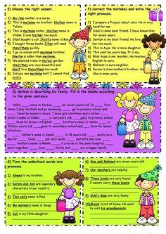 Subject&object pronouns-Possessive adjectives -2