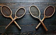 vintage tennis racquets - awesome decoration #Tennisplanet www.tennisplanet.com