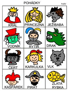 Pro Šíšu Story Tale, Pictogram, Bowser, Montessori, Fairy Tales, Kindergarten, Preschool, Language, Teaching