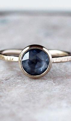 Rose Cut Sapphire Ring