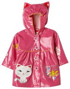 toddler girls raincoats dark pink