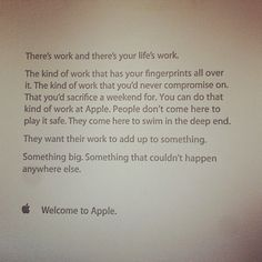 Apple new employee welcome letter