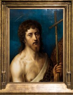 """https://flic.kr/p/HhJ3Ve   Artist Unknown (Italian, 17th c.), St. John the Baptist, n.d.   Oil on wood panel, 26 x 19.5"""".  Collection of Tweed Museum of Art, UMD.  Gift of Mrs. E. L. (Alice Tweed) Tuohy.  D59.x48"""