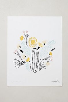 LOVE the colors and everything about this!  Would like best for part of living room. Botanical Print #anthropologie